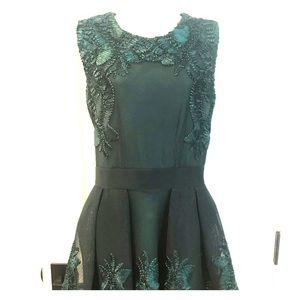 Stunning Maje Cocktail Dress - Hunter Green